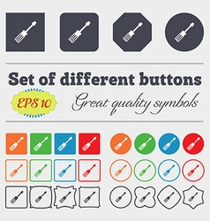 Screwdriver icon sign big set of colorful diverse vector