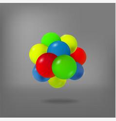 abstract molecule atoms 3d vector image vector image