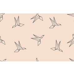 birds origami ornament vector image vector image