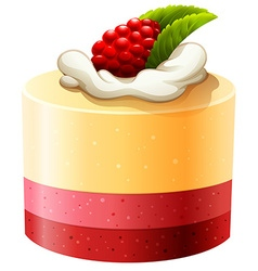 Cake with rasberry and cream vector