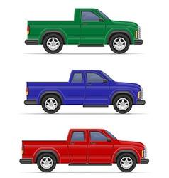 car pickup 08 vector image vector image