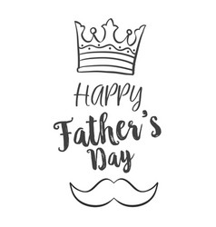 Celebration of father day hand draw vector