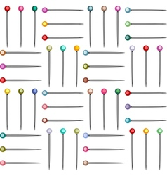 Colorful Pins Seamless Pattern vector image vector image