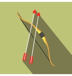 Cupid bow and arrows icon vector image vector image