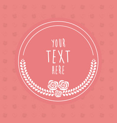 Frame decoration flower template card image vector
