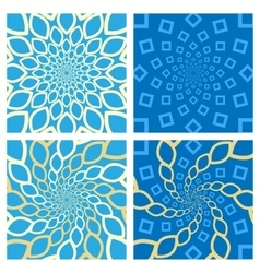 Geometric background set oriental style vector