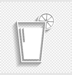 Glass of juice icons white icon with soft vector