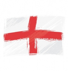 grunge England flag vector image vector image