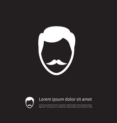 Isolated goatee icon stylish beard element vector