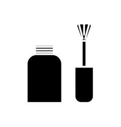 nail polish icon black sign vector image