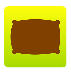 pillow sign brown icon at vector image vector image