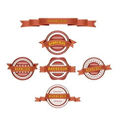 Set of barbeque labels vector image