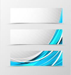 Set of header banner futuristic design vector