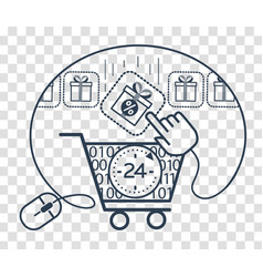 Silhouette cart store 24 vector