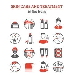 Skin cosmetics icons set vector