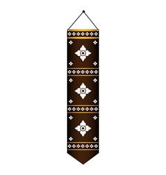 Thai lanna flag thai art pattern vector