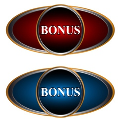 Two bonus icons vector image vector image