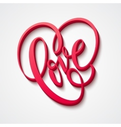 Valentines day lettering love vector
