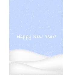 Winter background with snow vector image vector image
