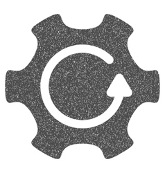 Rotate gear grainy texture icon vector