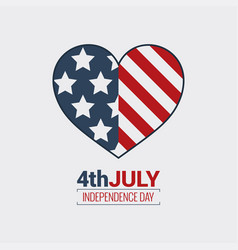 July fourth logo independence day design vector