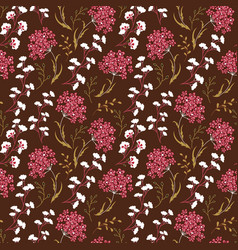 Cute floral pattern in the small flower motifs vector