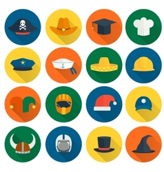 Hat flat icons vector