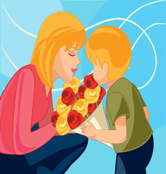 mother-and-child vector image