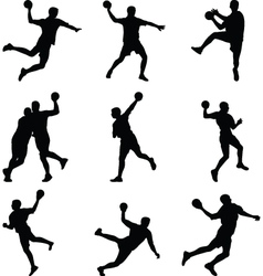 Handball player vector