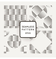 Set of seamless geometric patterns of lines vector