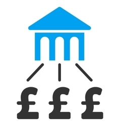 Pound bank structure flat icon symbol vector