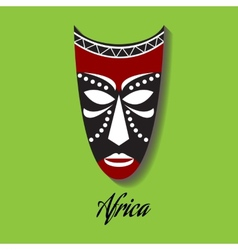 africa mask vector image