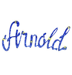 Arnold name lettering tinsels vector