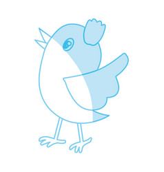 Bird cute cartoon vector