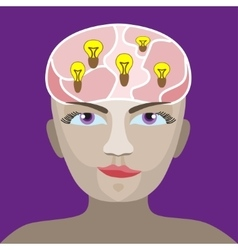 brain with a light vector image