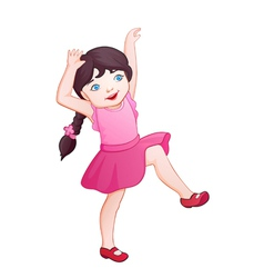 Cartoon playing girl vector image vector image