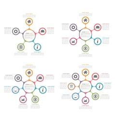 Circle diagrams set vector