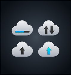 Cloud computing concept with arrows vector image vector image