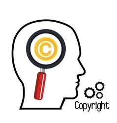 Copyright symbol design vector