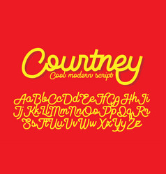 courtney cool modern script font vector image vector image