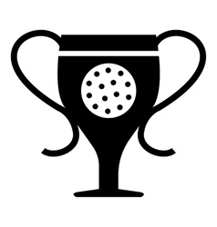 Cup golf icon simple style vector image vector image