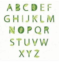 Eco alphabet vector