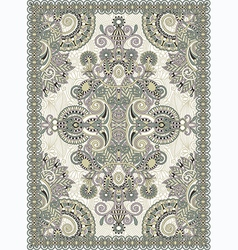 Floral ornamental seamless carpet vector