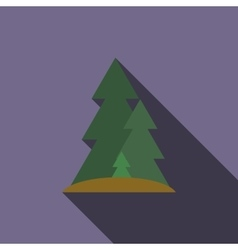 Forest icon flat style vector image