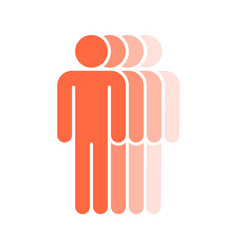 Four human sign people symbol vector