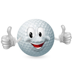Golf ball mascot vector