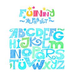 Hand drawn decorative typography vector