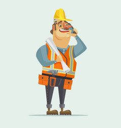 happy smiling construction worker foreman boss vector image vector image