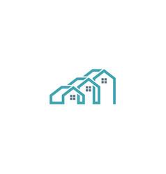 house company logo vector image vector image