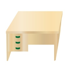 Isolated office table vector